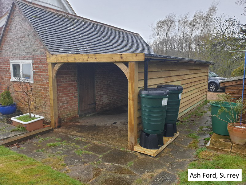 Traditional Garage Carport in Ash Ford, Surrey