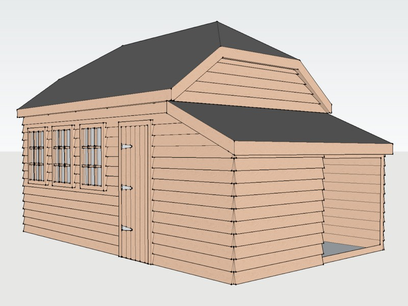 Traditional Garage In Catmore, Berkshire